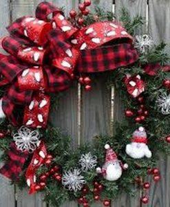 Рождественские венки, подсвечники